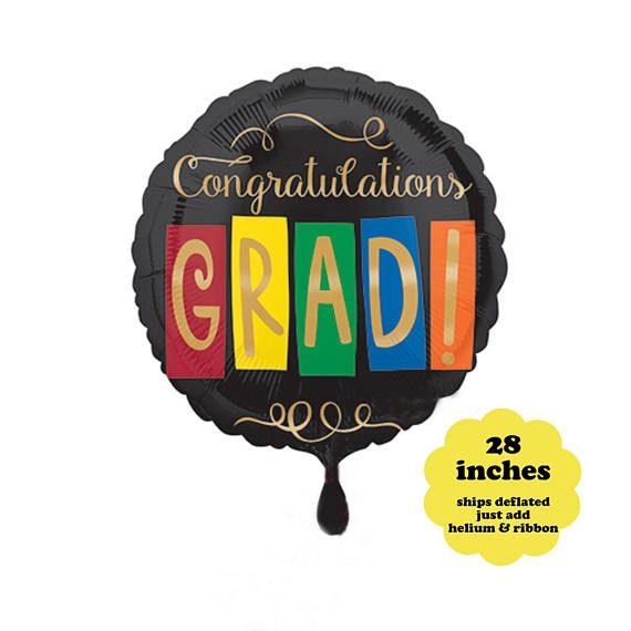 Congratulations Grade Balloon - 28 inches - Graduation Party Decorations Graduation Balloon Large Fo