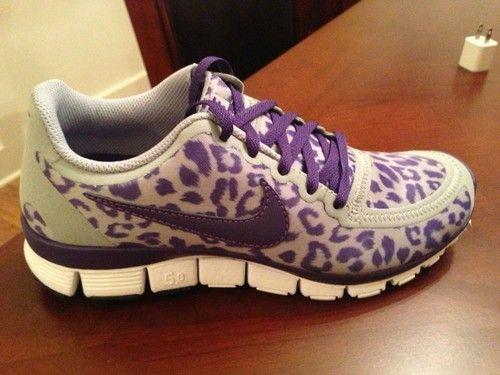 Nike Gratuit Cheveux Violet 5,0 V4 Léopard Guépard