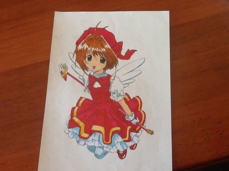 My first marker drawing! It's cardcaptor sakura! By Chloe Pash