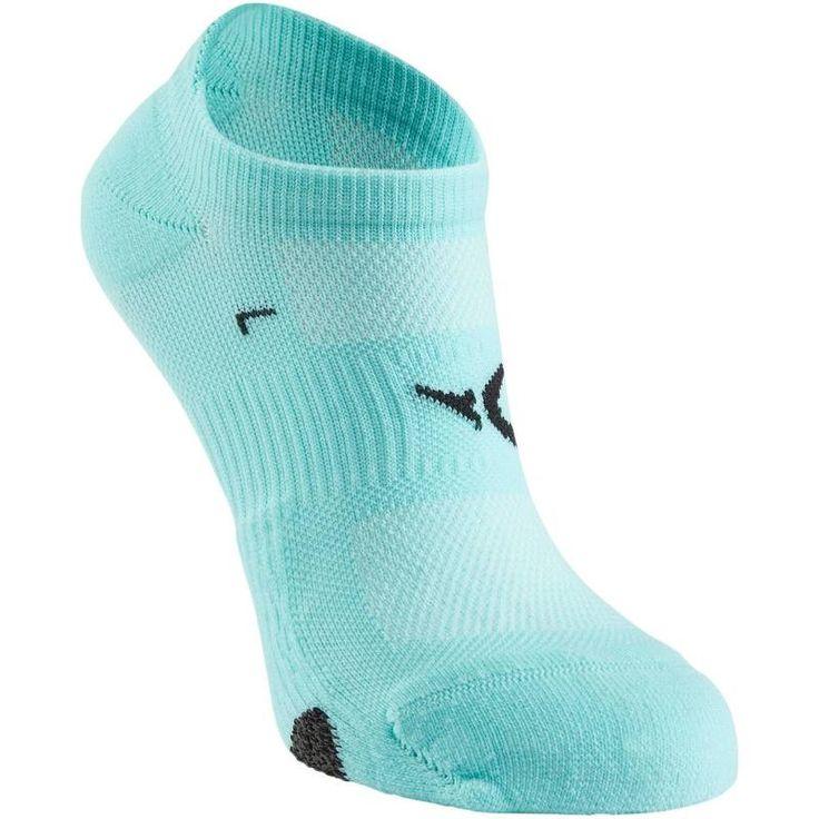 Fitness_Fitnesskleding Fitness - Ademende onzichtbare sokken DOMYOS - Fitness kleding