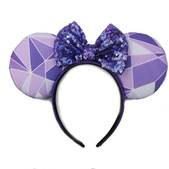 Bow Purple Disney Parks New Sequins Minnie Ears Shanghai Disney Resort Headband