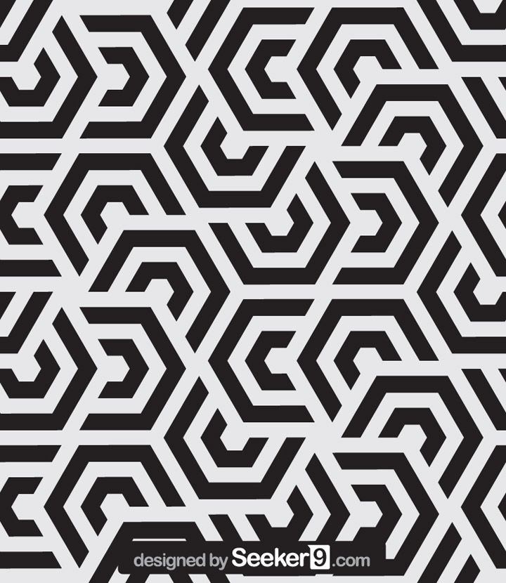 Download Stock Vector of Seamless pattern wallpaper vector for Free, modern stylish texture and Repeating geometric tiles with hexagonal