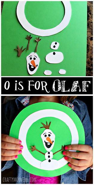 O is for Olaf from Frozen #Alphabet craft for kids #Winter art project | CraftyMorning.com