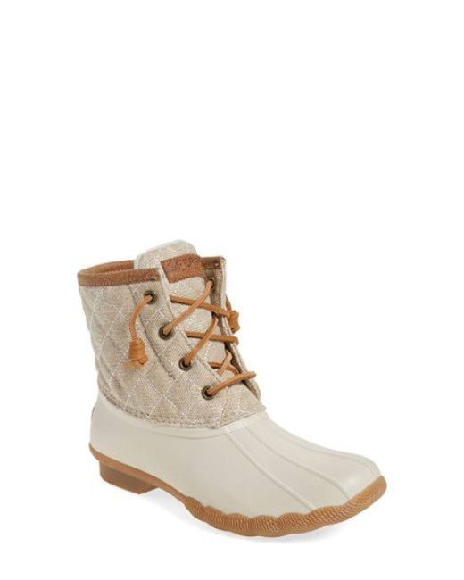 Sperry Top-Sider | Natural 'saltwater - Quilted' Duck Boot | Lyst