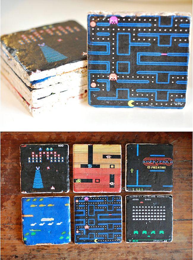 Atari Video Games Marble Coasters - #RetroGaming