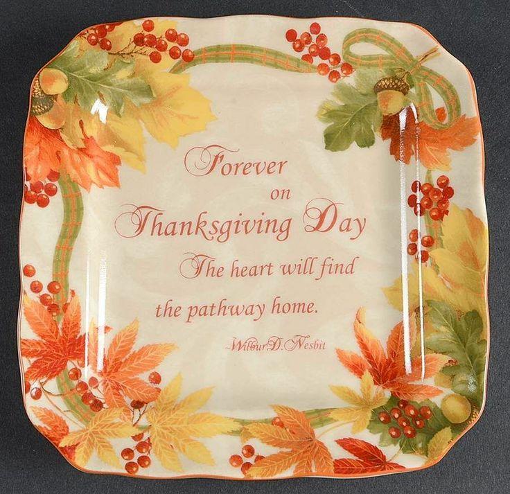 222 Fifth Autumn Celebration Square Appetizer Plate