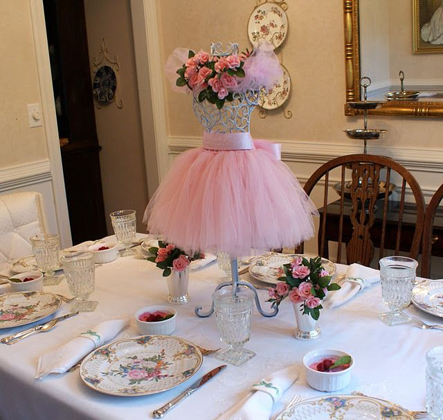 Ballerina party centerpiece.