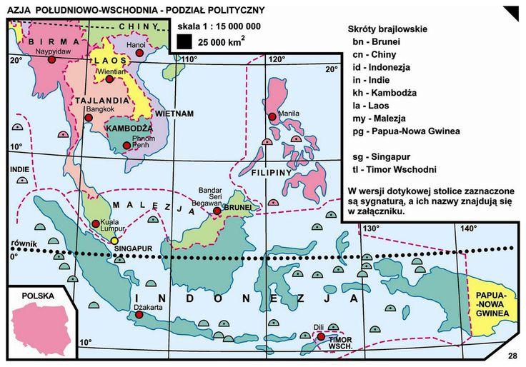 28. Azja Południowo-Wschodnia – podział polityczny