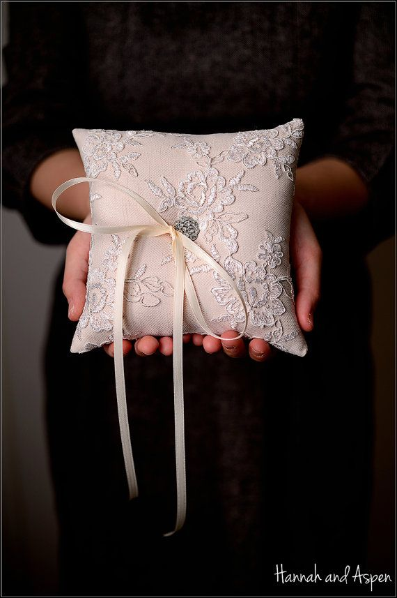 Wendy   6x6 Wedding ring pillow  Wedding by HannahAspensbridal, $25.00