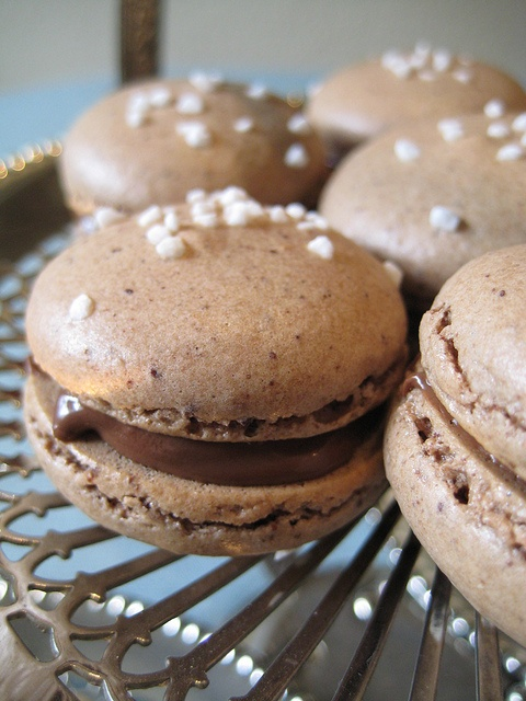 Chocolate Macarons with Nutella