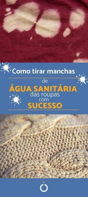 Como remover manchas de água sanitária da roupa – 8 soluções úteis   – Limpeza