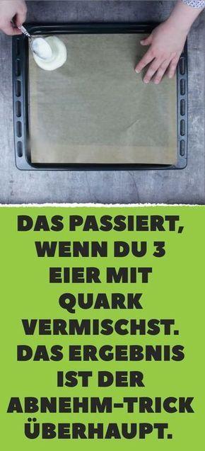 Das passiert, wenn du 3 Eier mit Quark vermischst….