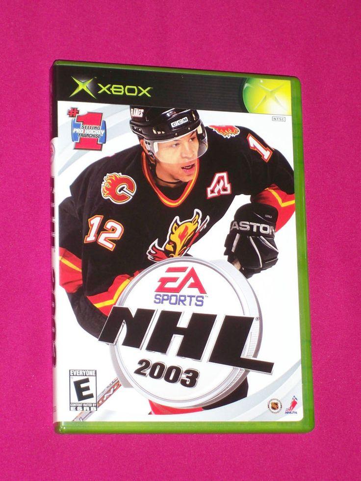 NHL 2003 Hockey - Xbox Video Game, COMPLETE Iginla ~Xbox original Calgary Flames | eBay