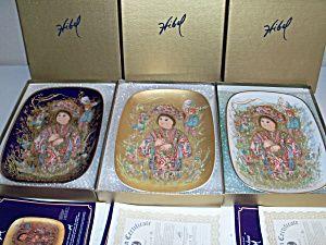 Edna Hibel Seconda Arte Ovale Taro-kun Rare 3 Piece Set