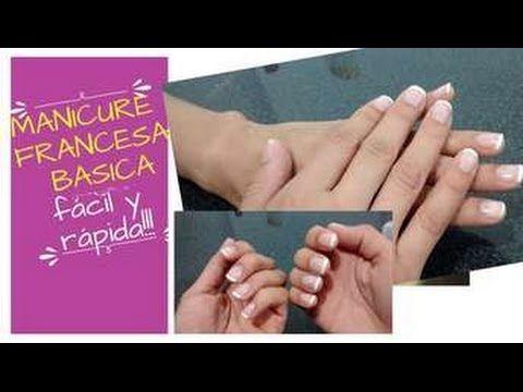 Como hacer manicure francesa basica en casa. Rapido y facil!!! -Giany Fashion