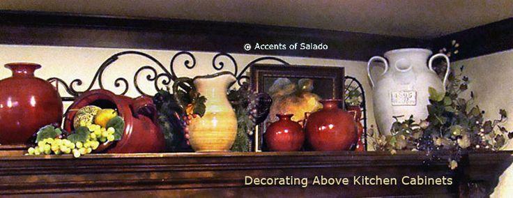 Decorating above Kitchen cabinetsI