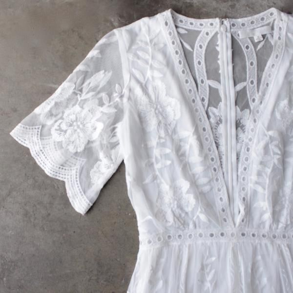 as you wish embroidered lace maxi dress (women) - white - shophearts - 3