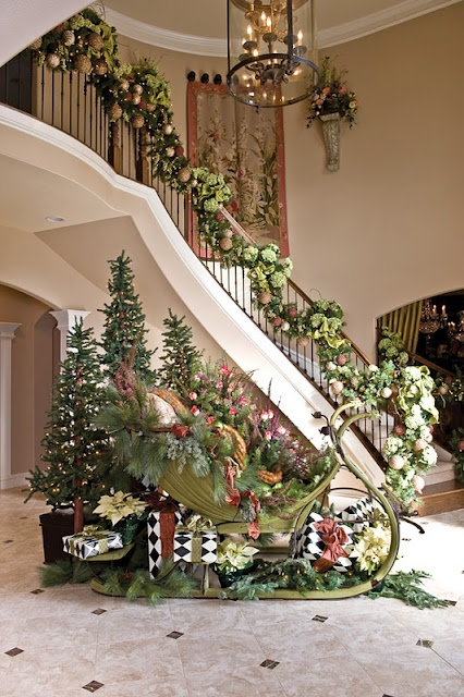 Pretty banister... If I was ever rich I love this!