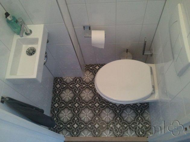 Cementtiles Toilet - Gris 01 - Project van Designtegels.nl