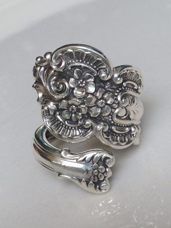 Vintage Sterling Silver Spoon Ring on Etsy, $110.00