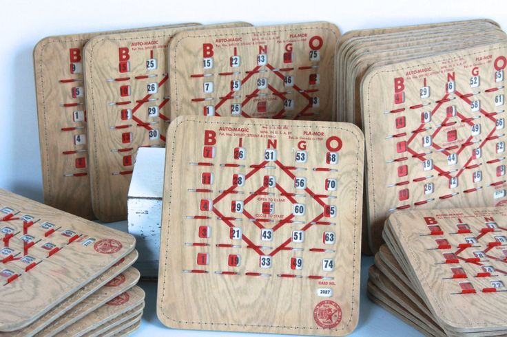 Viintage Bingo Cards Bingo King Pla-mor Slider Cards All Numbers Different Total Lot 22 by LittleShopofWhatNots on Etsy