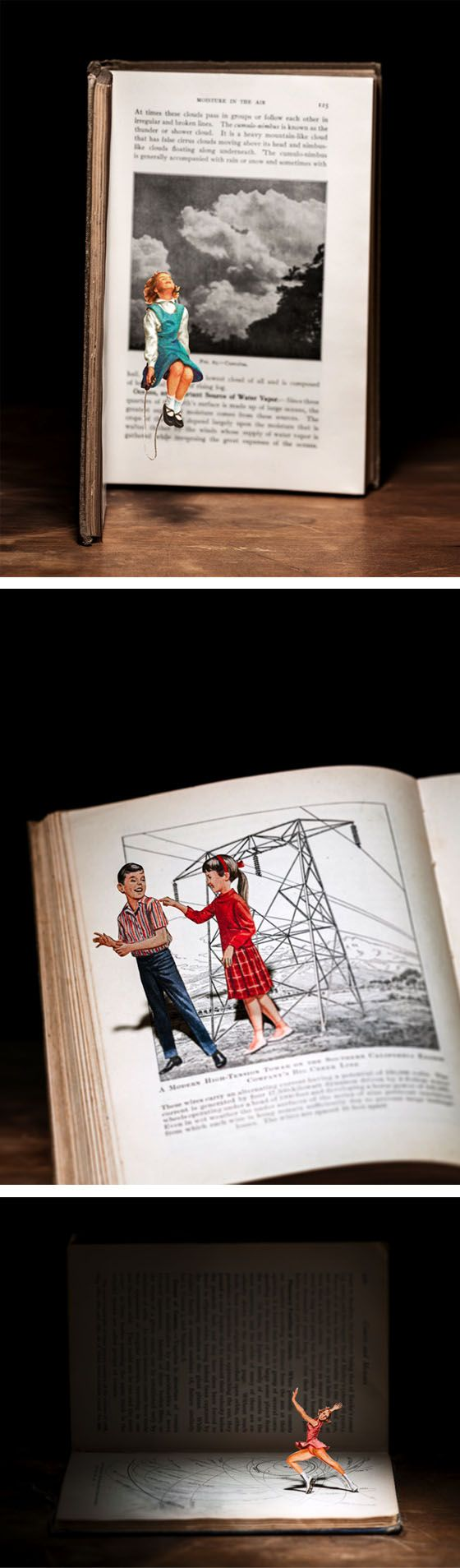 Book cut outs by Thomas Allen
