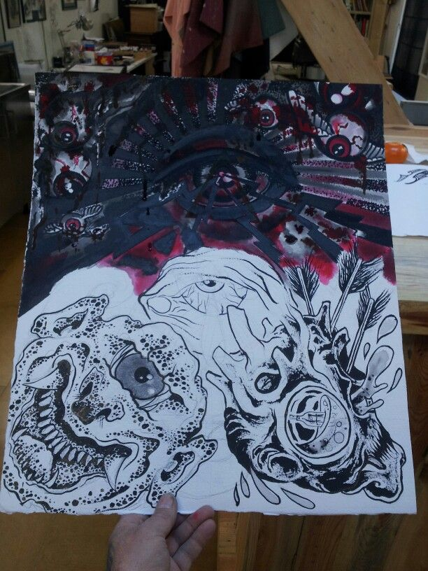 Pintando cob amigos