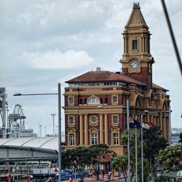 The ferry building in downtown Auckland