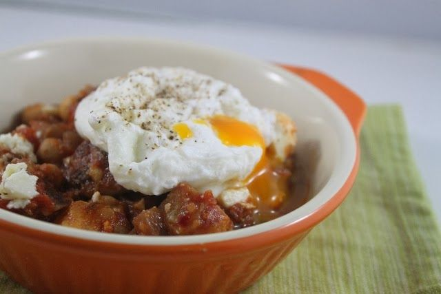 More than Words: Shakshouka with Poached Egg