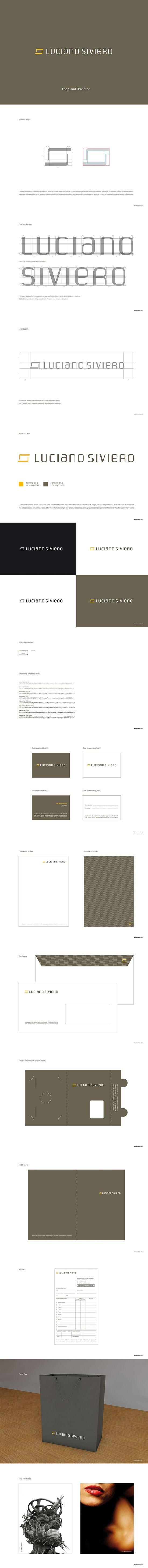 Logo Design and Corporate Identity for Luciano Siviero - © Concreate Studio®