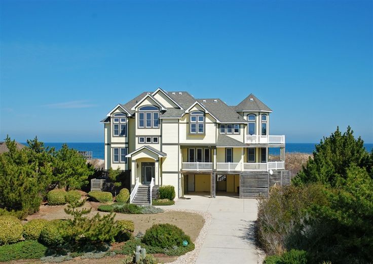 Twiddy outer banks vacation home whale of a view for Oceanfront house plans