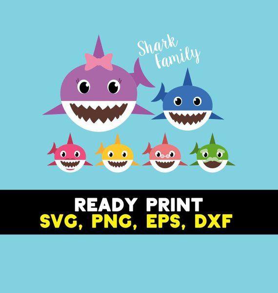 Pin by Etsy on Products | Baby shark, Shark, Shark family