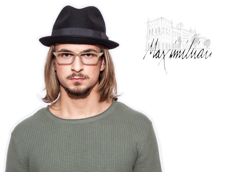 """Maximilian. Luxuriös, luxuriöser, Maximilianstraße. Wo die Haute Volée sich die Ehre gibt, gebührt uns die Ehre unser WOOD FELLAS Modell auf eben diesen Namen zu taufen: MAXIMILIAN. """"Er"""" ist Symbol für die Haute Couture, die auch im Segment der Holzbrillen Einzug hält. - Preis: 299,00 € - WOOD FELLAS - Handmade Eyewear München"""