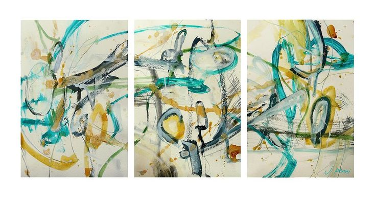 New abstract art, expressive mark making by Julie Perri