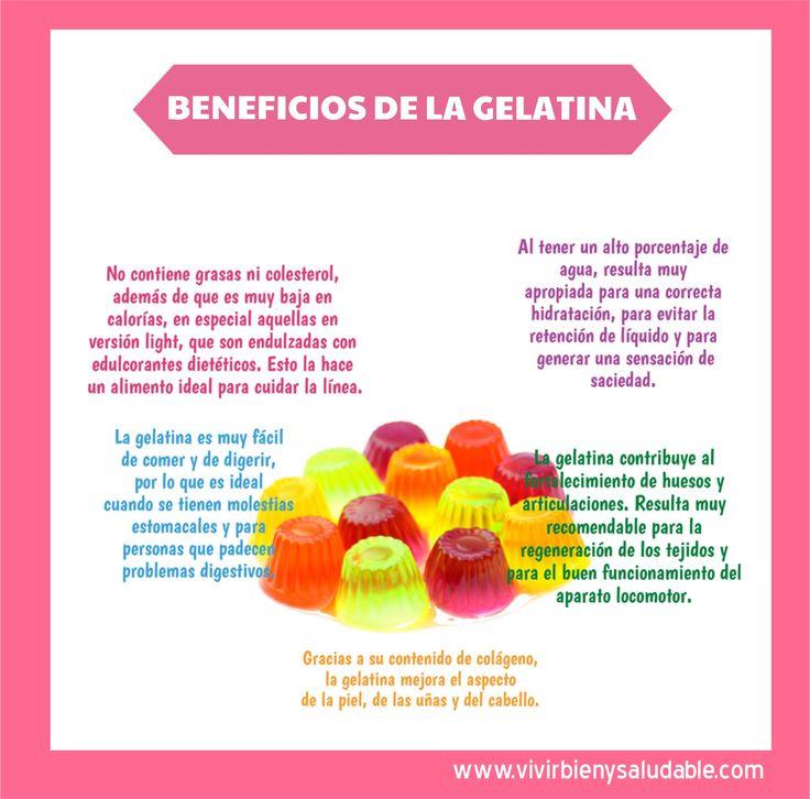 Beneficios de la Gelatina. Puedes creer tantos beneficios