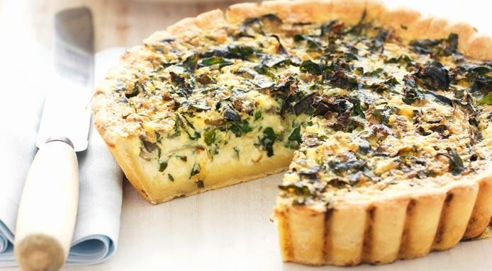 French Quiche #recipe: a delicacy with spinach and fresh cheese