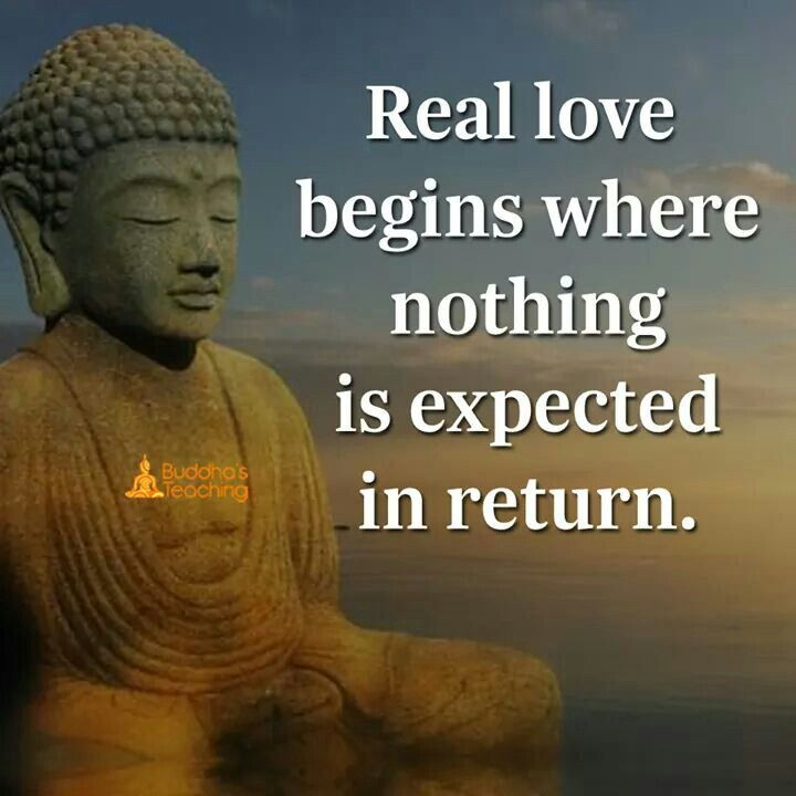 Real love expects nothing.