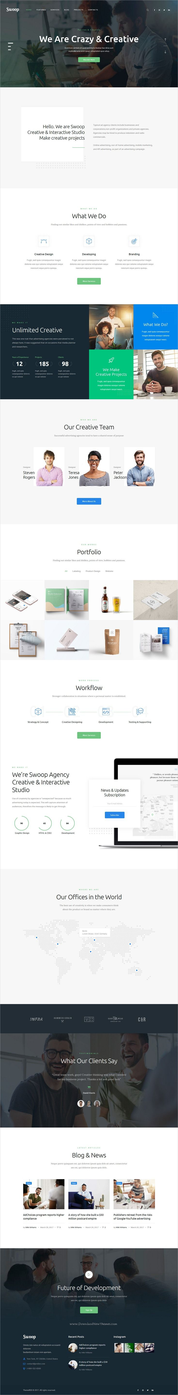 Swoop is clean and modern design 3in1 responsive #WordPress theme for web #studio and creative #agency website download now..