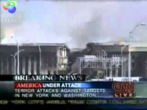 very interesting newscast ...newscaster saying no evidence of a plane was found hitting the Pentagon
