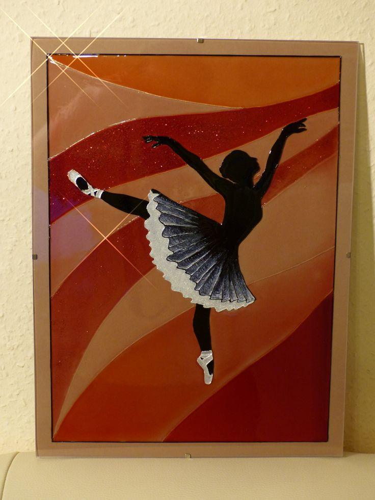 glass painting - Ballerina = Üvegfestés - Balerina