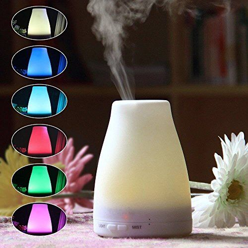 Special Offers - Bosjett Aromatherapy Diffuser Portable Ultrasonic Aroma Humidifier with 7 Color Changing LED Lamps Mist Mode Adjustment and Waterless Auto Shut-off Function  for Home Office - In stock & Free Shipping. You can save more money! Check It (April 19 2016 at 09:16AM) >> http://airpurifierusa.net/bosjett-aromatherapy-diffuser-portable-ultrasonic-aroma-humidifier-with-7-color-changing-led-lamps-mist-mode-adjustment-and-waterless-auto-shut-off-function-for-home-office/