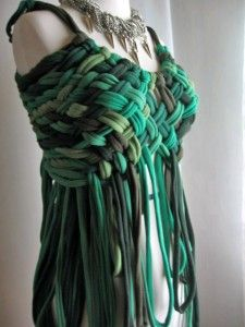 Made of old t-shirts~~Wow. - Can't find original image. Maybe made by Chez Kevito
