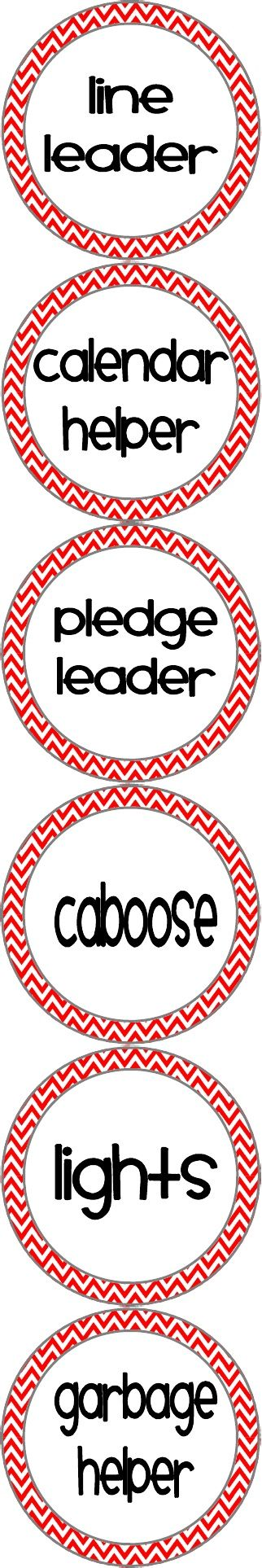 Classroom Helper Chart Labels :). Pinnin g this so I remember to add light helper next year.