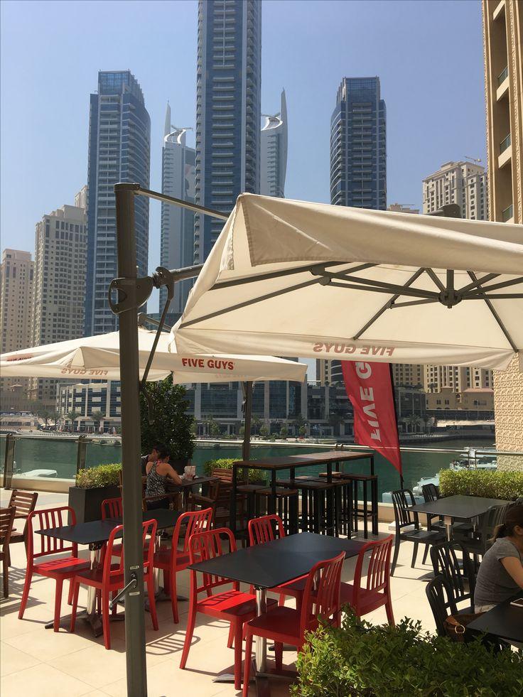 Five Guys at the Dubai marina
