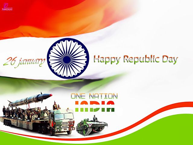 Happy Republic Day Wishes and Greetings Quote 26 January Republic Day of India Missile Celebration Card Images Wallpaper