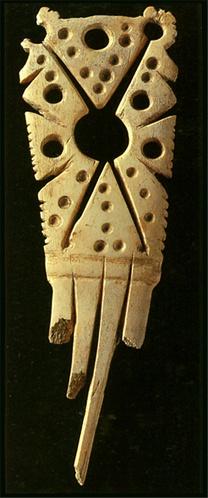 Comb made by a bone. Jomon-era. BC.3,500 - BC.2,500. Aomori Japan.