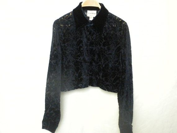Vintage 80's Joseph Ribkoff Creations Midnight Blue by DJVboutique