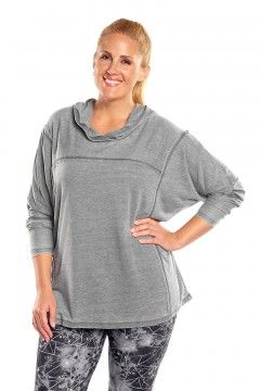 marika montclare french terry plus size hoodie MKF062FA Charcoal