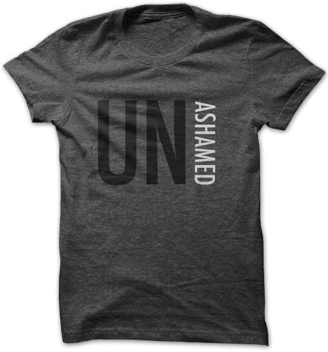 Unashamed: to declare my faith When someone asks you what you are unashamed of. Do not hesitate to tell them that you are not ashamed to love Jesus Christ! Wear your faith...BOLDLY!