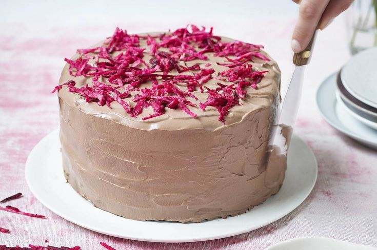 """Try this healthier bake that's free from refined sugar and packed with delicious natural ingredients, from Eat Smart, food blogger Niomi Smart's new cook book. """"Don't knock this until you try it,"""" says Niomi. """"Even if you don't like beetroot, you won't be able to taste the earthiness once it's mi"""
